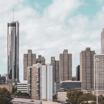 Atlanta Skyline from Jackson Street showing AmericasMart